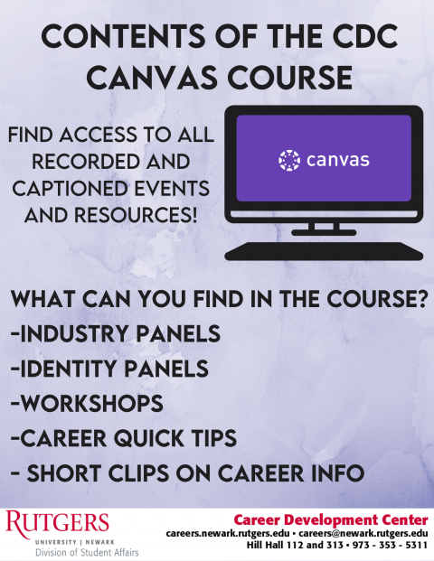 What can you find in the CDC Canvas course?