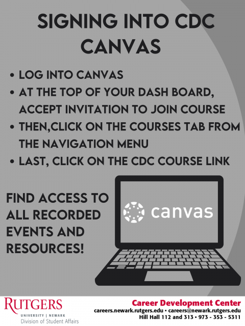 How to sign into the CDC Canvas course!